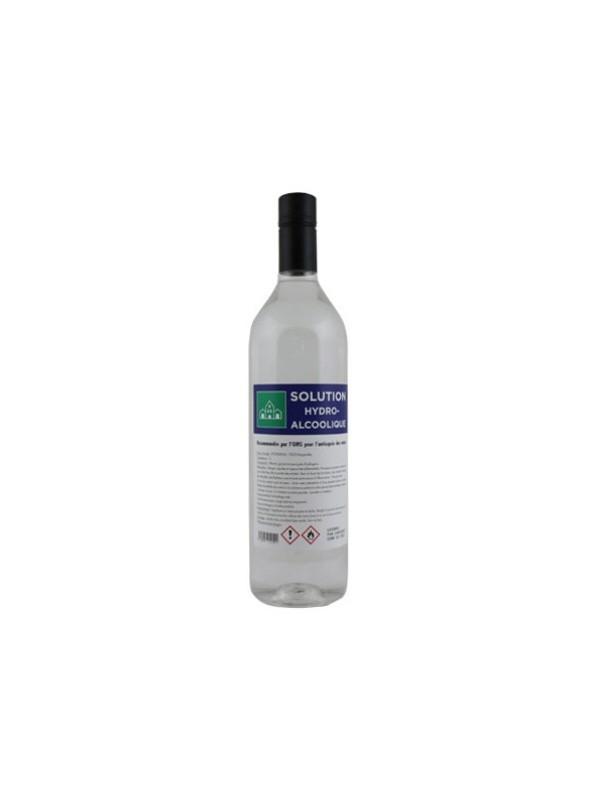 Solution gel Hydroalcoolique formulation OMS pour les mains - bouteille de 1L