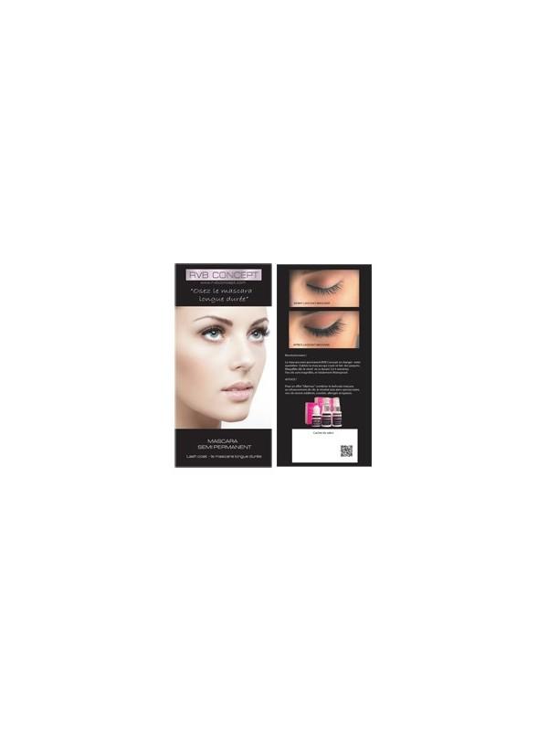 Brochures mascara semi permanent