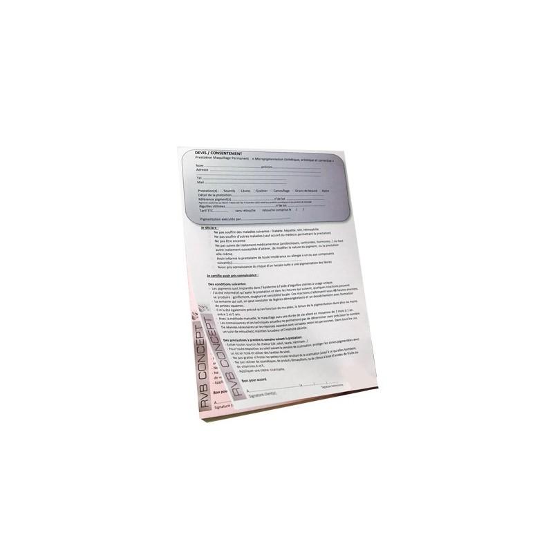 carnet de consentement (devis et accord)